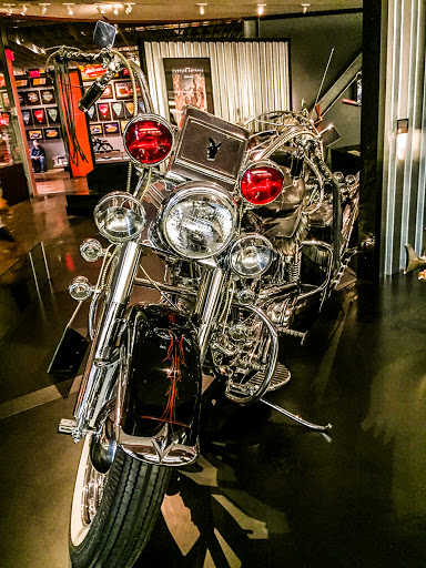 Custom bikes at the Harley Davidson Museum in Milwaukee WI