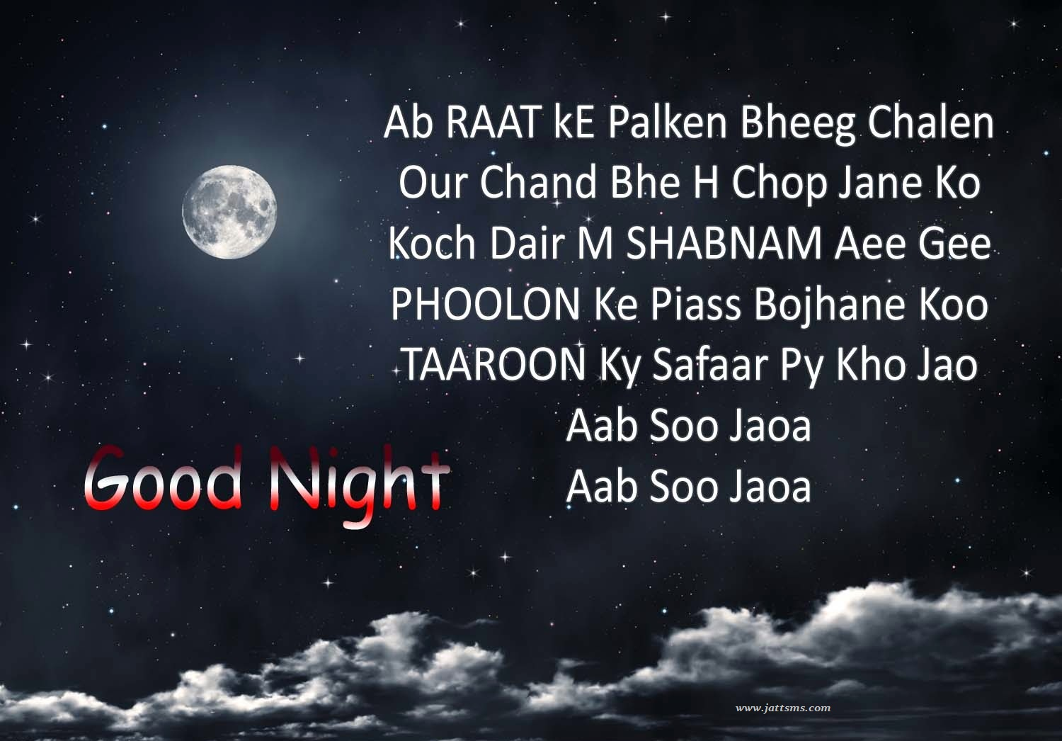 Elegant Good Night Hindi Sms Image Top Colection For Greeting And