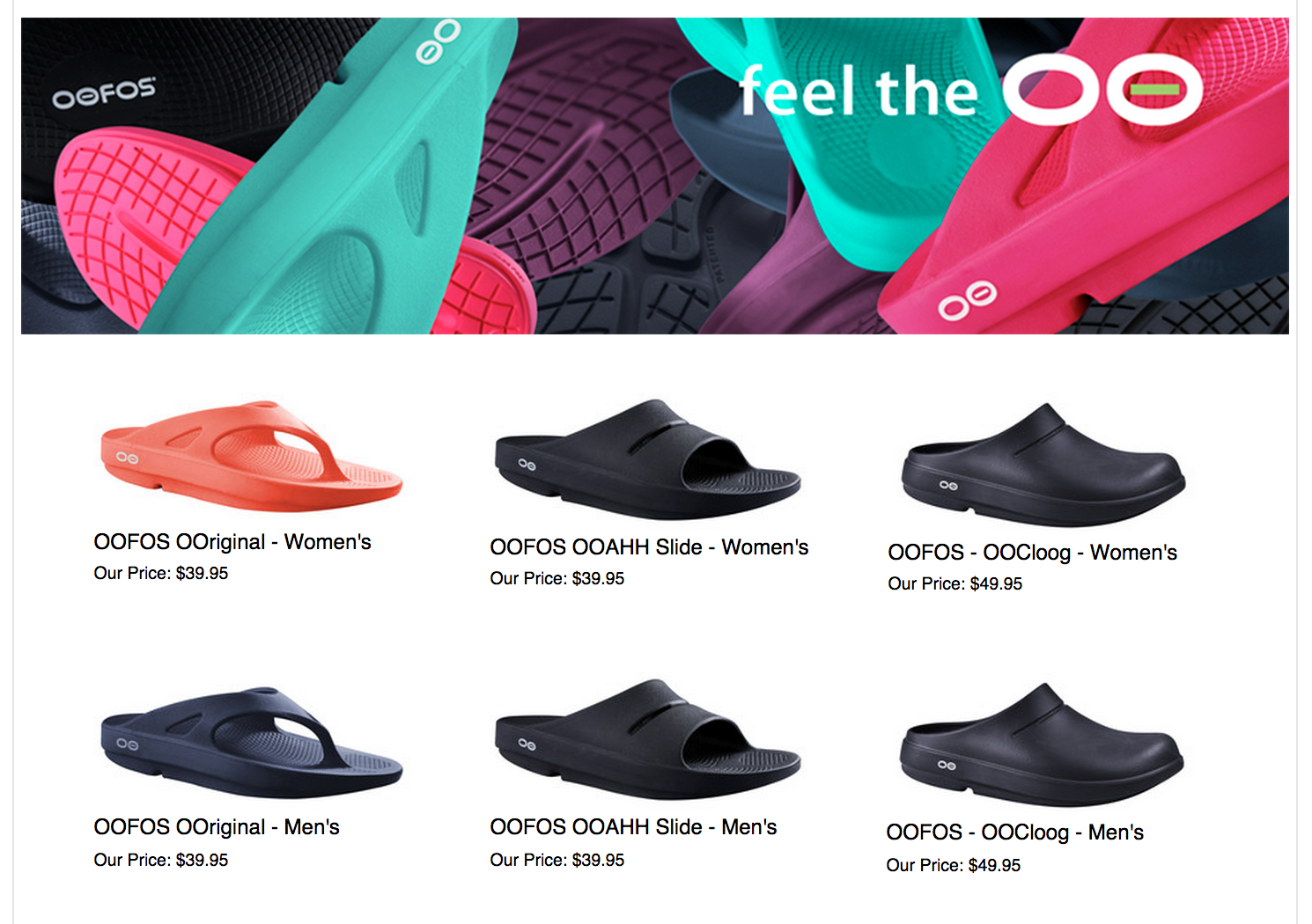 Oofos Running Shoes