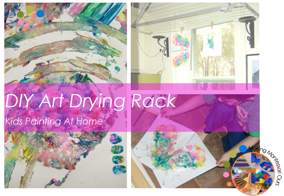 Diy Art Drying Rack Kids Painting At Home Quot Making