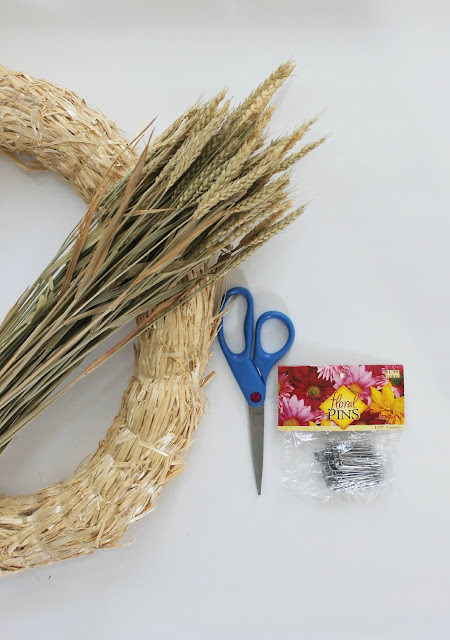 how to make a wheat wreath