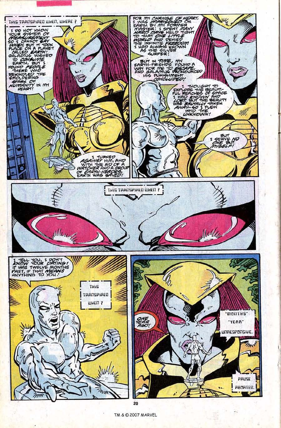 Read online Silver Surfer (1987) comic -  Issue #24 - 22