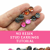Easy No Resin Stud Earrings Tutorial Uses Paper!