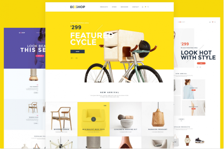Download Multipurpose E-Commerce PSD Template Free
