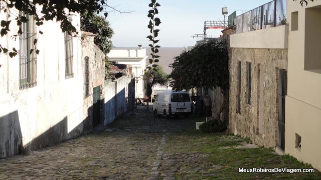Rua em Colonia del Sacramento - Uruguai