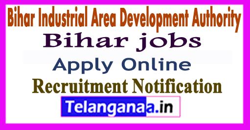 Bihar Industrial Area Development Authority BIADA Recruitment Notification 2017 Apply