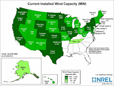 NREL - Installed Wind Energy Capacity, 2012