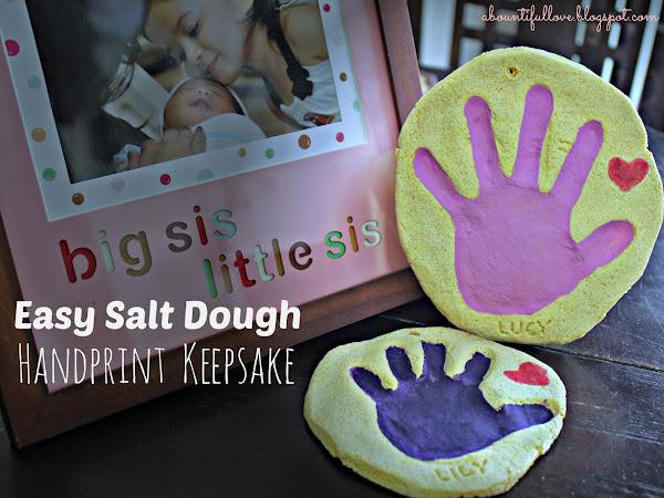 Easy Salt Dough Handprint Keepsake