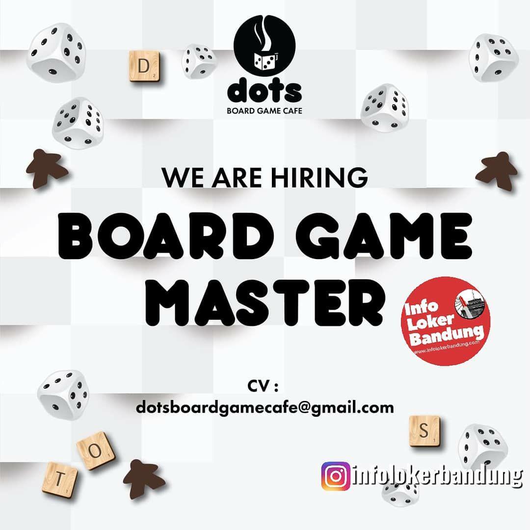 Lowongan Kerja Board Game Master DOTS Board Game Cafe Bandung Maret 2019