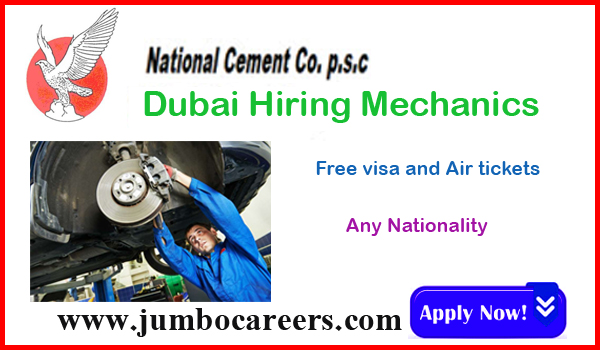 Urgent UAE jobs with benefits, Dubai job listing latest May 2018,