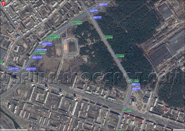 Второй тест: трекер MySafe T300A против SPT-100, поездка в Минске на автомобиле