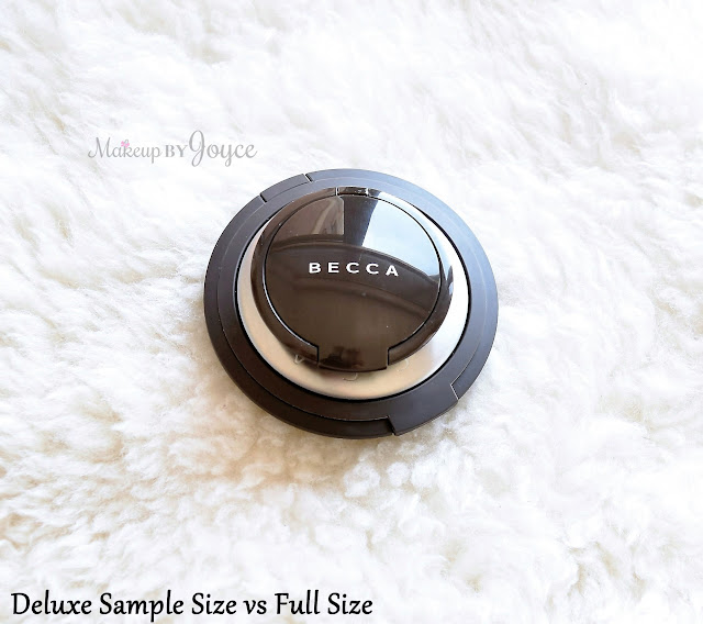 Becca Opal Pressed Powder Highlighter Deluxe Sample Travel Size Packaging Review