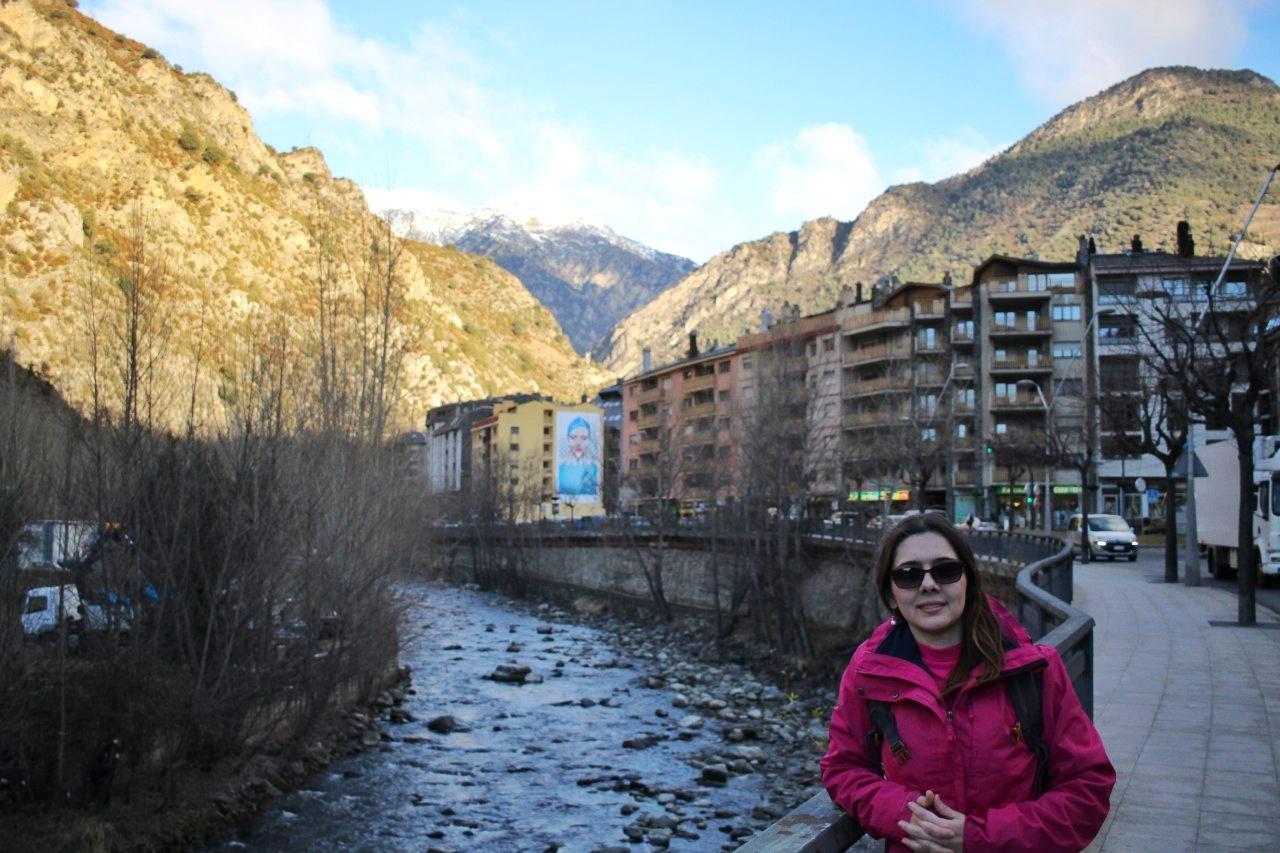 Rio Valira em Sant Julià de Lòria.