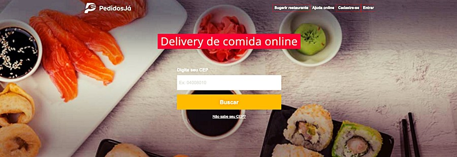 Delivery de Alimentos - PedidosJá