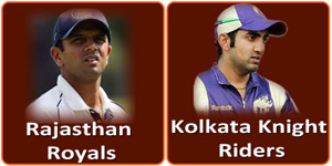 KKR Vs RR is on 3 May 2013