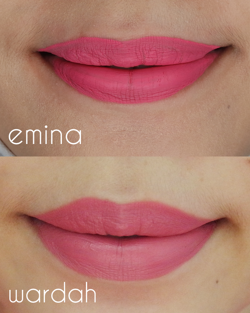Wardah Lip Cream vs Emina Creamatte