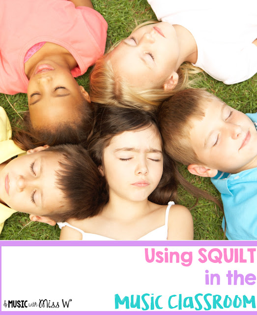 Looking for a fun way to introduce classical music to your elementary music students? Try SQUILT (Super Quiet UnInterrupted Listening Time)