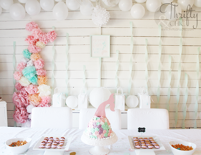 DIY mermaid birthday party and decorating ideas. DIY under the sea birthday party and decorating ideas. DIY mermaid cake, mermaid tail cake.