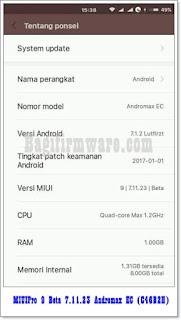 Custom ROM MIUIPro 9 Beta 7.11.23 Andromax EC (C46B2H)