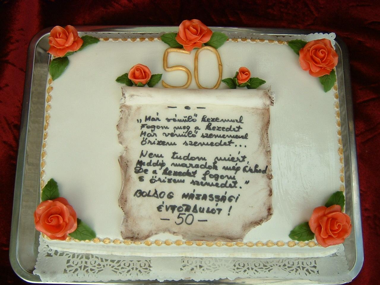 idézetek házassági évfordulóra 50 Rozi Erdélyi konyhája: Házassági évfordulóra 50