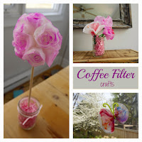 coffee filter flower butterfly topiary