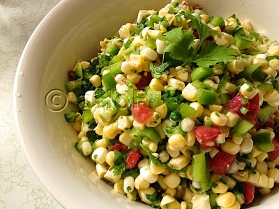 Fresh RAW Corn Salad