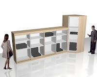 Desain Lemari Pajangan Untuk Produk Kantor