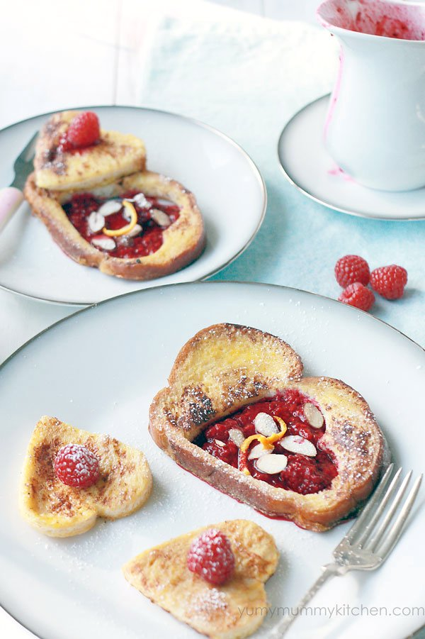 French Toast with Stewed Berries