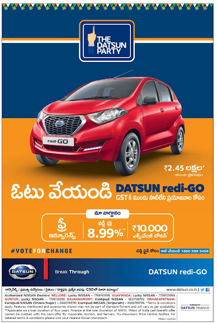 DATSUN REDI GO OFFERS