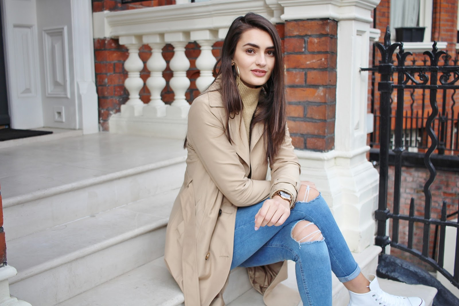 peexo london street style blogger trench coat transitional spring