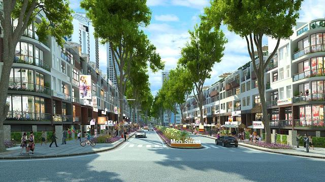 Nhà phố thương mại Mon City