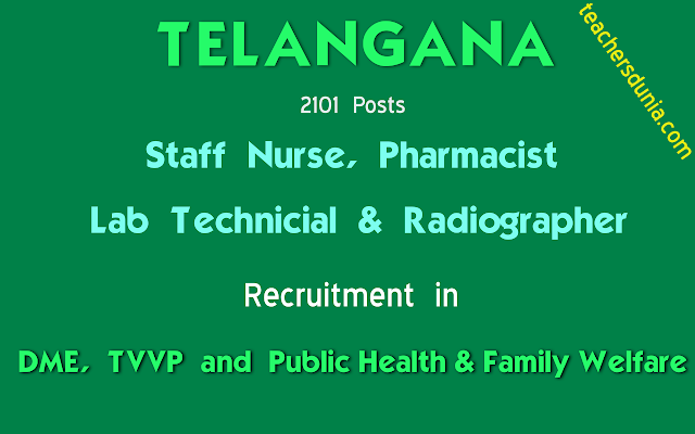 Staff-Nurse-Pharmacist-Lab-Technician-Radiographer-In-DME-TVVP-Recruitment-Notification