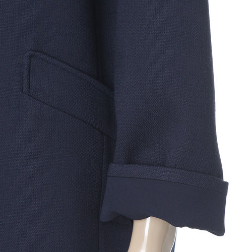 Boxy Notched Lapel Coat