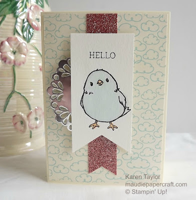 Stampin' Up! Honeycomb happiness blue chick