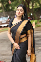 Poorna in Cute Backless Choli Saree Stunning Beauty at Avantika Movie platinum Disc Function ~  Exclusive 100.JPG