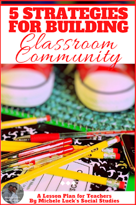 Start teaching with organized strategies to help create the ideal classroom community for your middle or high school students. Building a classroom community can help all students find greater success. #tpt #socialstudies #classroom #communitybuilding #students #teaching #teachers