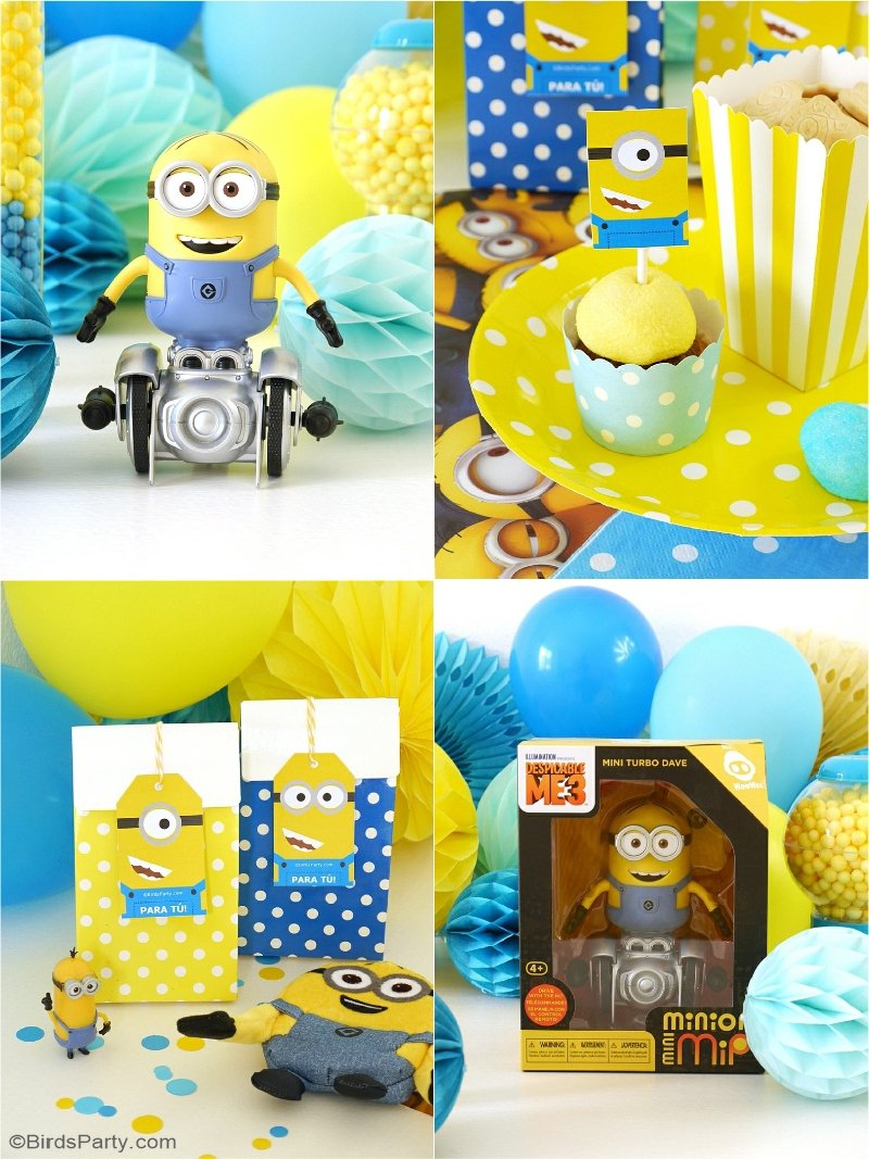 minion inspired birthday party ideas free printables. Black Bedroom Furniture Sets. Home Design Ideas