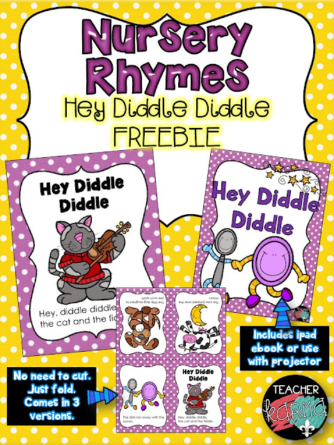 nursery rhyme readers freebie teacherkarma.com