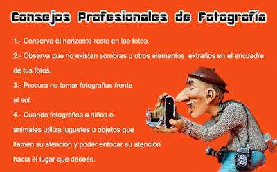 Consejos profesionales de fotografía