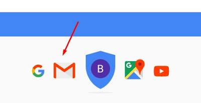 Klik icon Gmail
