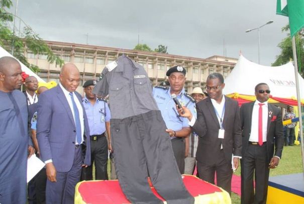 Inspector General of Police Solomon Arase unveil new SPY uniform