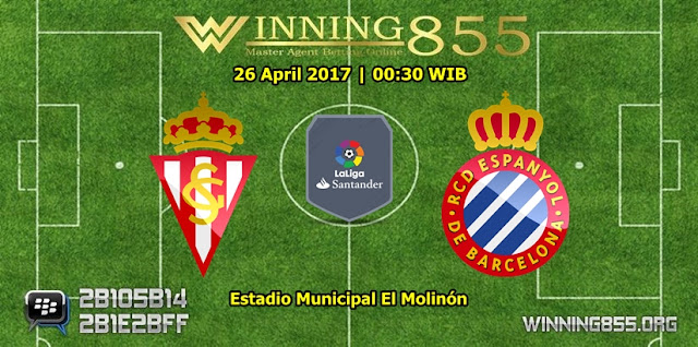 Prediksi Skor Sporting Gijon vs Espanyol 26 April 2017
