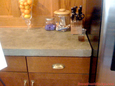 Concrete kitchen worktops