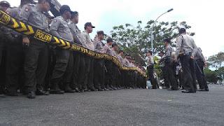 Pengamanan Aksi Damai, Polres Lamsel Turunkan 500 Lebih Personel