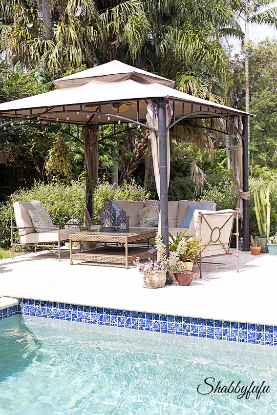 pool entertaining gazebo