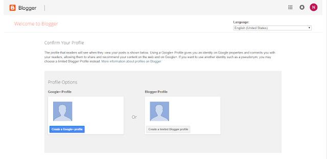 Google + hari Blogger profile