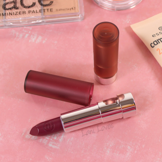 Essence Matt Matt Matt Lipsticks - 02 Perfect Match, 07 Purple Power Swatches & Review