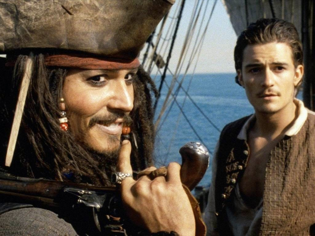 Orlando Bloom Pirates of the Caribbean 1 Johnny Depp