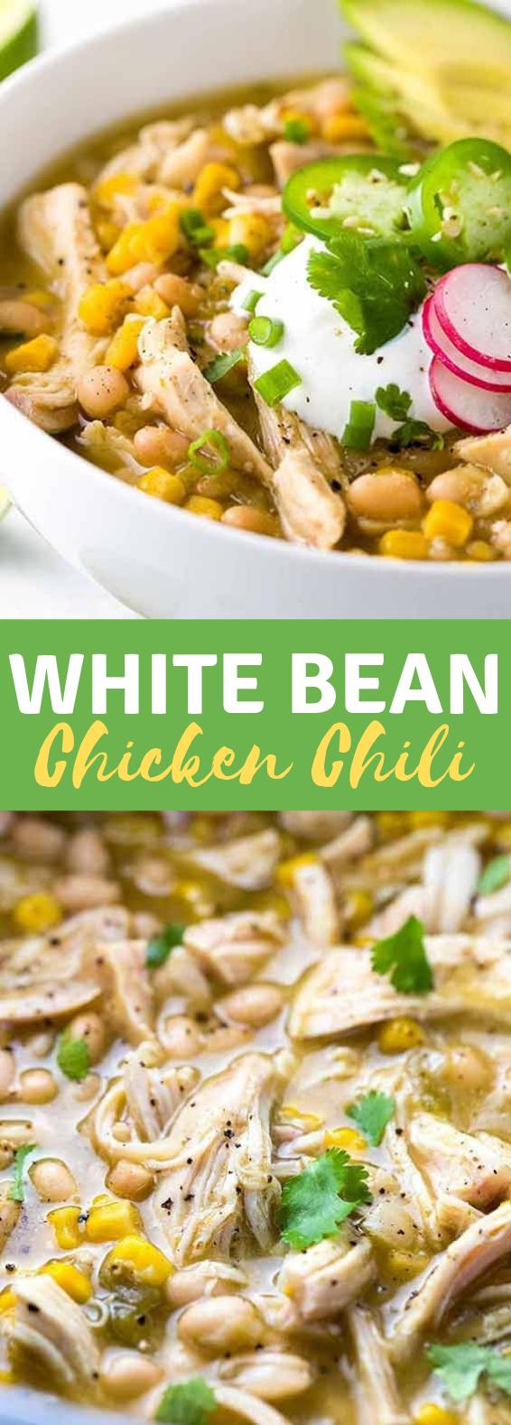 White Bean Chicken Chili #BestRecipe #Dinner