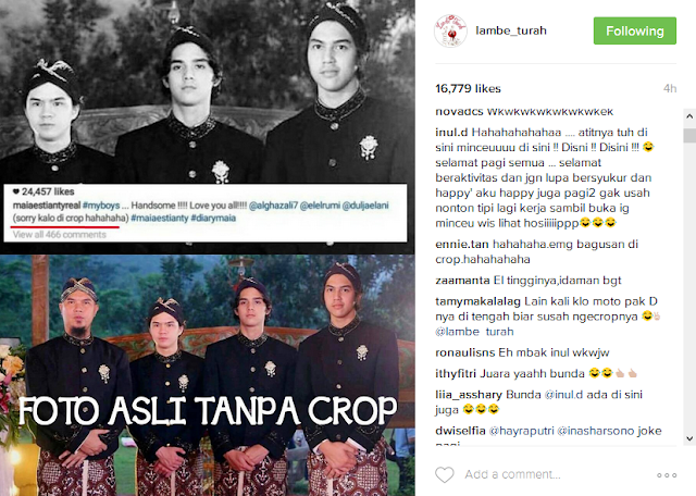 """Maia Estianty Foto Posting Anak Dengan Crop Ahmad Dhani, Inul Daratista """"Atitnya Tuh Disini"""""""